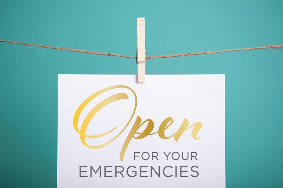 Open for Emergencies