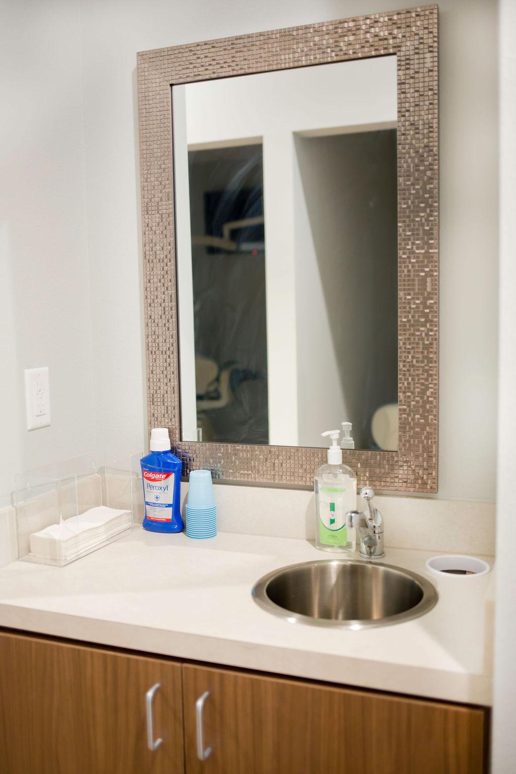 Bathroom at Revive Dentistry